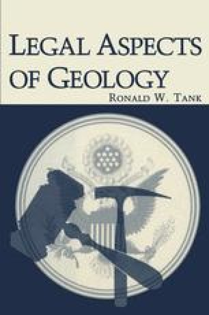 Legal Aspects of Geology