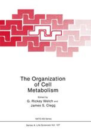 The Organization of Cell Metabolism