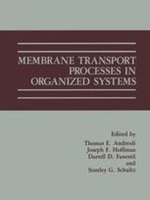 Membrane Transport Processes in Organized Systems