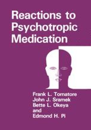 Reactions to Psychotropic Medication