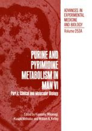 Purine and Pyrimidine Metabolism in Man VI
