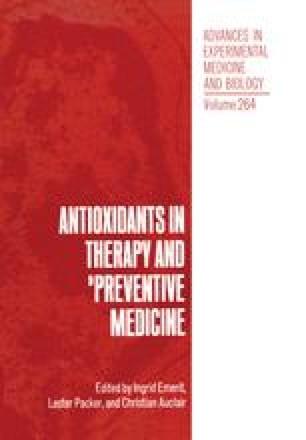 Antioxidants in Therapy and Preventive Medicine