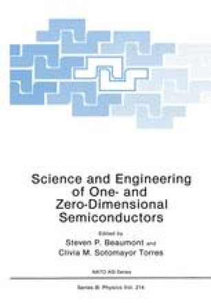Science and Engineering of One- and Zero-Dimensional Semiconductors