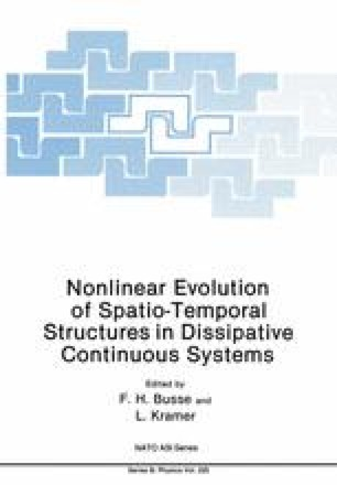 Nonlinear Evolution of Spatio-Temporal Structures in Dissipative Continuous Systems