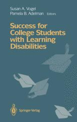 Success for College Students with Learning Disabilities
