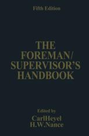The Foreman/Supervisor's Handbook