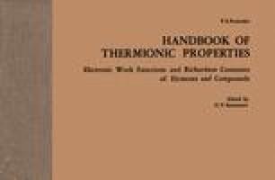 Handbook of Thermionic Properties