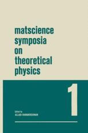 Matscience Symposia on Theoretical Physics
