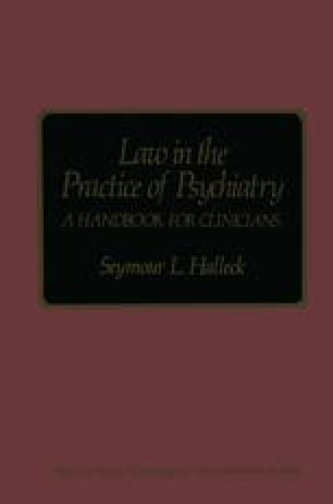 Law in the Practice of Psychiatry