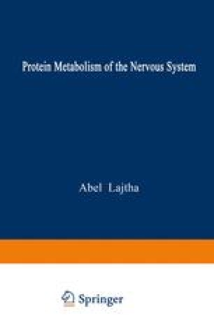Protein Metabolism of the Nervous System