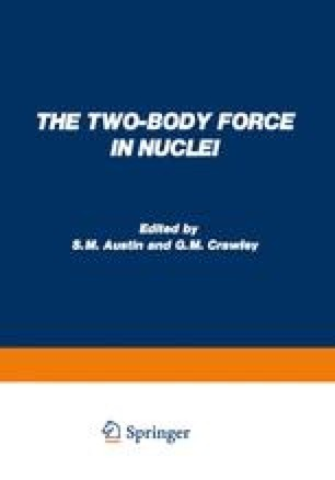 The Two-Body Force in Nuclei