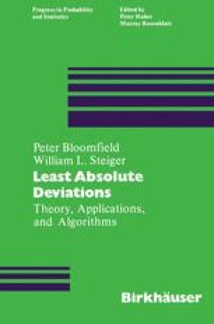 Least Absolute Deviations