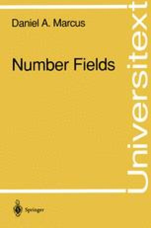 Number Fields
