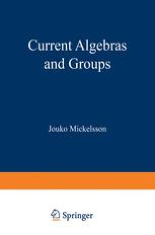 Current Algebras and Groups