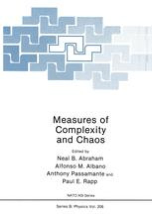 Measures of Complexity and Chaos