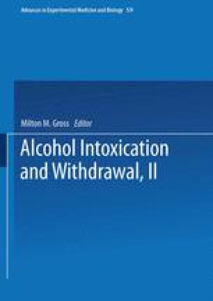 Alcohol Intoxication and Withdrawal