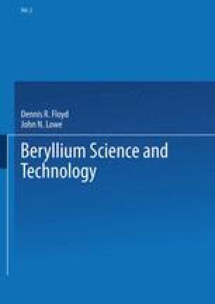 Beryllium Science and Technology