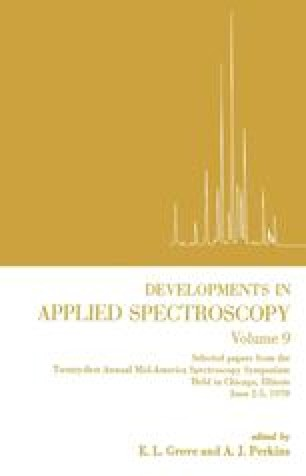 Developments in Applied Spectroscopy