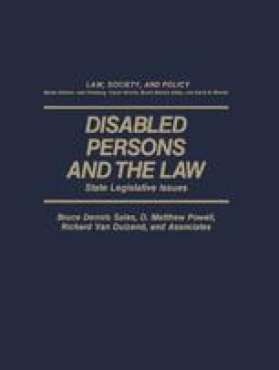 Disabled Persons and the Law