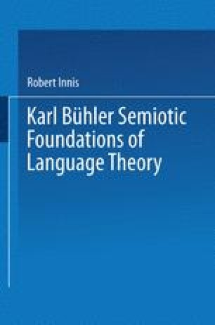 Karl Bühler Semiotic Foundations of Language Theory