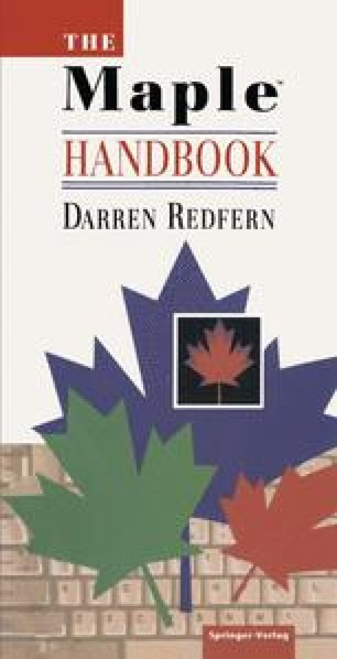 The Maple Handbook