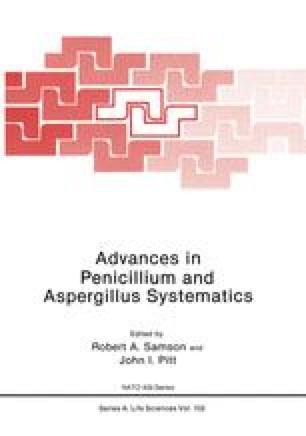 Advances in Penicillium and Aspergillus Systematics