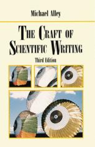 The Craft of Scientific Writing