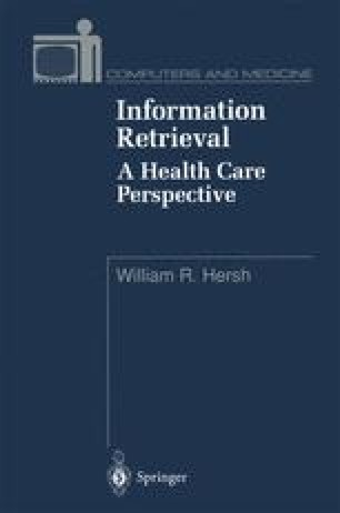 Information Retrieval: A Health Care Perspective
