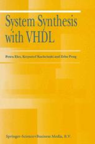 System Synthesis with VHDL