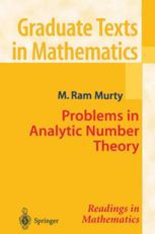 Problems in Analytic Number Theory