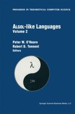 Algol-like Languages