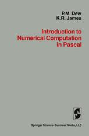 Introduction to Numerical Computation in Pascal