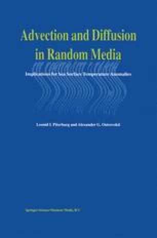 Advection and Diffusion in Random Media