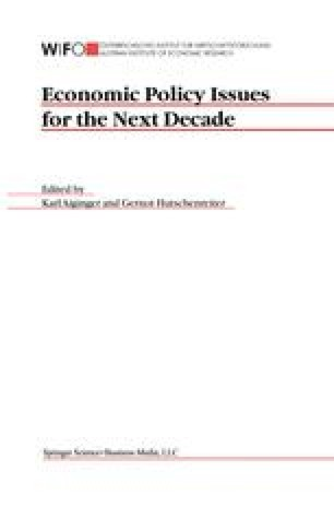Economic Policy Issues for the Next Decade