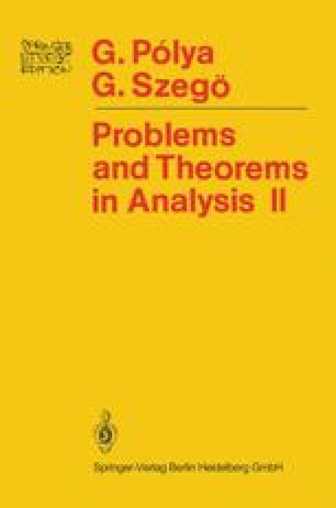 Problems and Theorems in Analysis