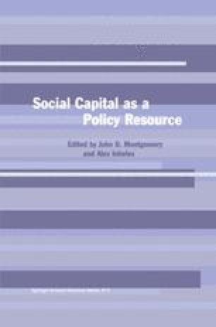 Social Capital as a Policy Resource