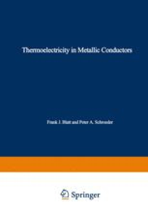 Thermoelectricity in Metallic Conductors