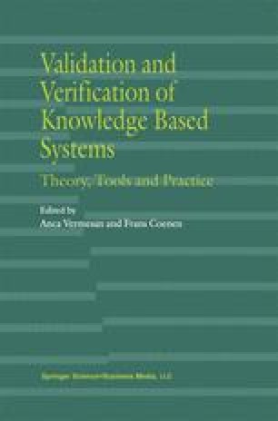 Validation and Verification of Knowledge Based Systems