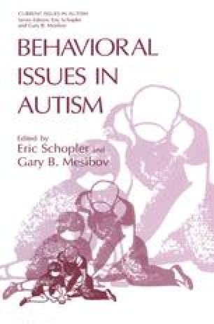 Behavioral Issues in Autism