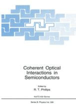 Coherent Optical Interactions in Semiconductors