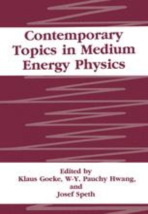 Contemporary Topics in Medium Energy Physics