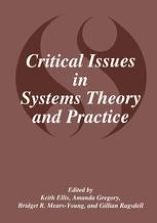 Critical Issues in Systems Theory and Practice