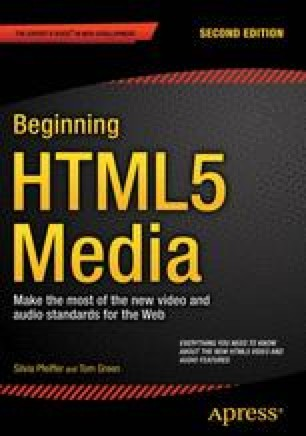 Using and Manipulating HTML5 Video and Audio Elements