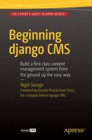 Introduction to django CMS | SpringerLink