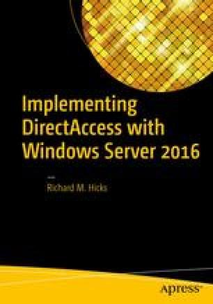 Migrate to Windows Server 2016 DirectAccess | SpringerLink
