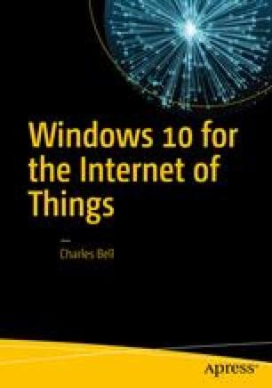 Windows 10 IoT Development with Python | SpringerLink