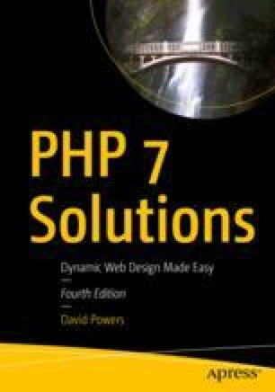 Getting Ready to Work with PHP | SpringerLink