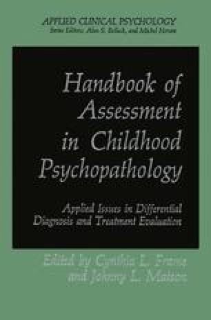 Handbook of Assessment in Childhood Psychopathology