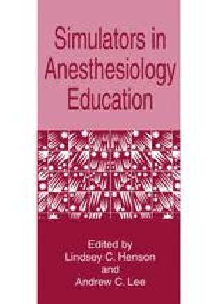 Simulators in Anesthesiology Education