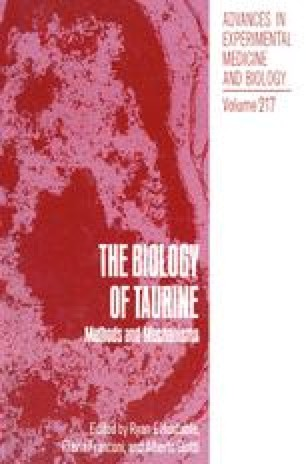Interactions of Taurine and Dopamine in the Striatum